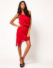 ASOS One Shoulder Dress with Drape