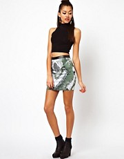 Motel Tie Dye Mini Skirt