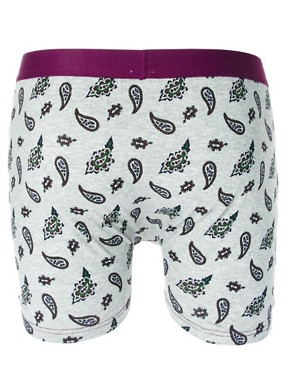 Image 2 of River Island Paisley Print 3 Pack Trunks