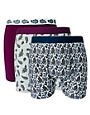 Image 1 of River Island Paisley Print 3 Pack Trunks