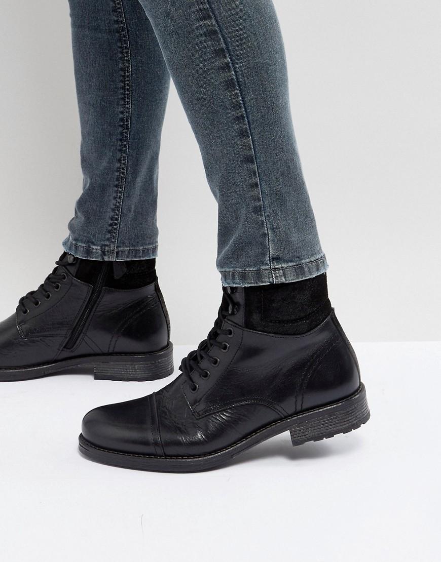 ALDO Senehauz Lace Up Boots In Black thumbnail