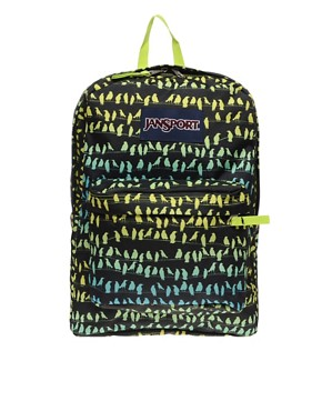 Image 1 ofJansport Backpack with Neon Bird Print