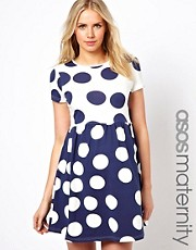 ASOS Maternity Smock Dress in Reverse Spot