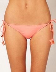 River Island Diamante 3D Flower Bikini Brief