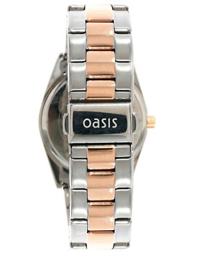 Image 2 ofOasis Two Tone Vintage Style Link Watch