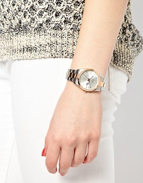 Image 3 ofOasis Two Tone Vintage Style Link Watch