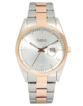 Image 1 ofOasis Two Tone Vintage Style Link Watch