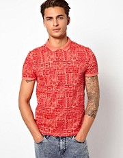 River Island  Polohemd mit Aztekenmuster