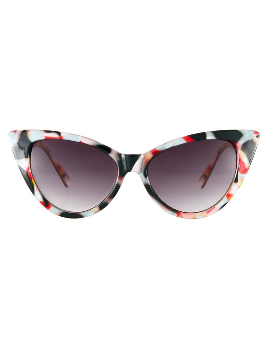 Image 2 ofASOS Cat Eye Sunglasses With Multi Frame