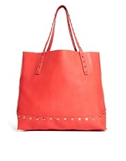 Mango Easy Slouchy Stud Tote Bag