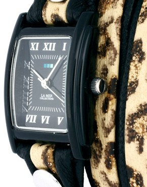 Image 4 ofLa Mer Python Layer Wrap Watch