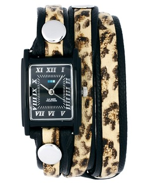 Image 1 ofLa Mer Python Layer Wrap Watch