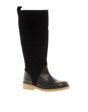 Image 1 ofASOS CLOUD Knee High Leather Boots