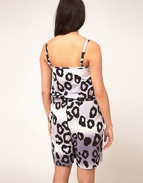 Image 2 ofASOS CURVE Exclusive Jersey Playsuit In Leopard Print