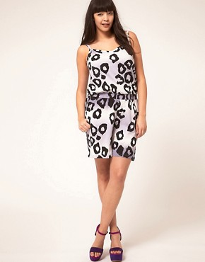 Image 4 ofASOS CURVE Exclusive Jersey Playsuit In Leopard Print