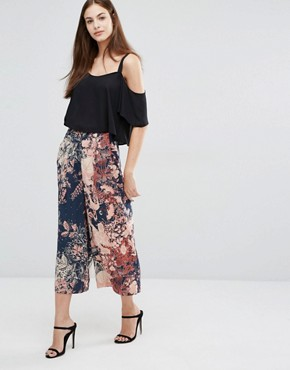 Sisley Printed Wide Length Trousers
