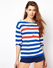 French Connection Jaz Stripe Long Sleeve T-Shirt