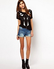 Very By Vero Moda Denim Shorts With Studs