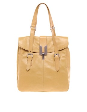 Image 1 ofHype Charles Leather Double Shoulder Tote Bag
