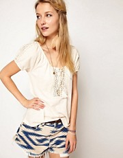 Denim & Supply By Ralph Lauren Lace Trimmed Top