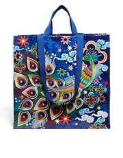 Blue Q &ndash; Shopper-Tasche mit Pfauenmotiv