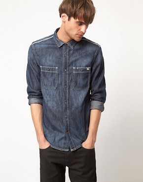 Image 1 ofDiesel Rooby Denim Long Sleeve Shirt