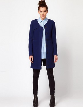 Image 4 ofGAR-DE Nylon Melton Wool Mix Car Coat