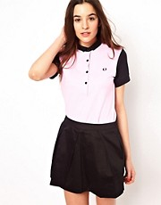Fred Perry For The Amy Winehouse Foundation Color Block Polo Shirt