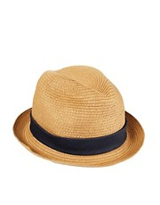 Esprit Straw Porkpie Hat