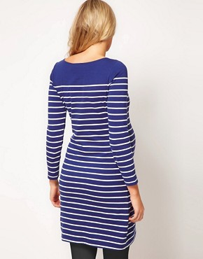 Image 2 ofASOS Maternity Exclusive Dress In Cotton Breton Stripe