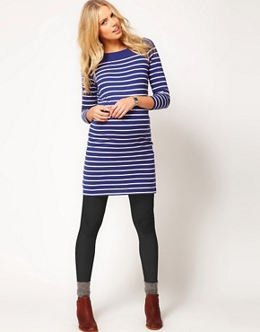 Image 4 ofASOS Maternity Exclusive Dress In Cotton Breton Stripe