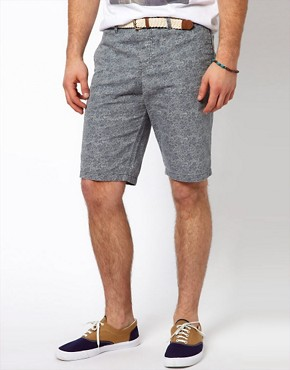 Image 1 ofRiver Island Paisley Shorts