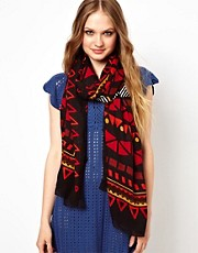 Liquorish Mutli Aztec Print Scarf