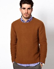 Gant Rugger Jumper in a Ribbed Crew Neck