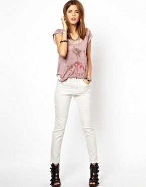 Image 4 ofDiesel Highknee High Waist Skinny Jeans