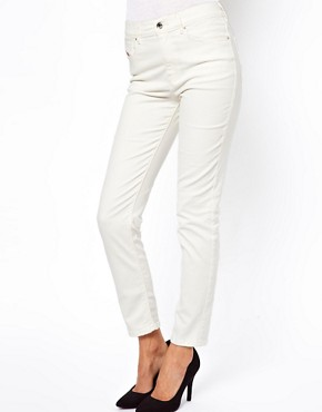 Image 1 ofDiesel Highknee High Waist Skinny Jeans