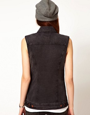 Image 2 ofLevi&#39;s Longline Sleeveless Trucker Jacket