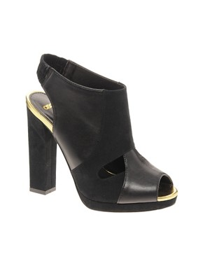 Image 1 ofASOS TEMPO Peep Toe Shoe Boots