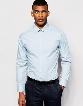 River Island Light Blue Short Sleeve Poplin Shirt