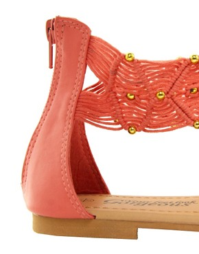 Image 2 ofNew Look T Heart Coral Sandals