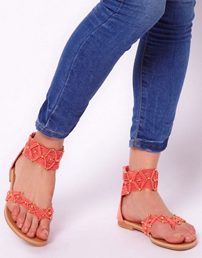 Image 3 ofNew Look T Heart Coral Sandals