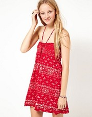 Denim &amp; Supply By Ralph Lauren Printed Slub Halter Dress