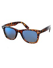 ASOS Wayfarer with Blue Mirror Lens