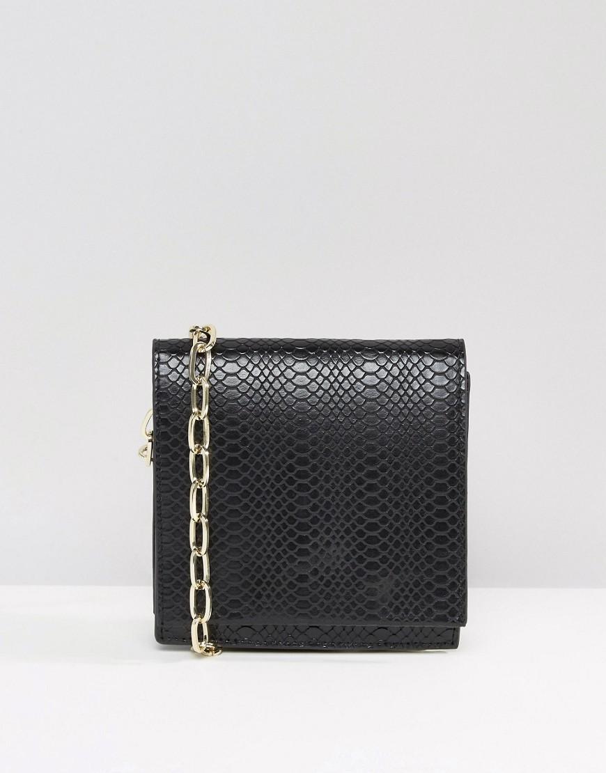 asos female 188971 asos snake cross body bag with chain black