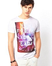 Camiseta con estampado New Friend York exclusiva para ASOS de Friend or Faux
