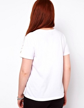 Image 2 ofASOS CURVE T-Shirt With Come A Little Closer