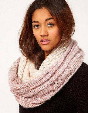 Image 1 ofRiver Island Cable Metallic Thread Ombre Snood