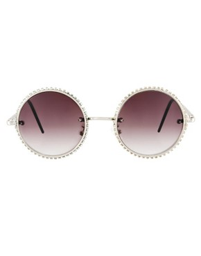 Image 2 ofASOS Diamante Round Sunglasses