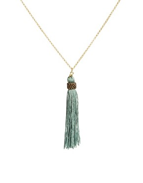 Image 1 ofJamie Jewellery Long Tassel Necklace