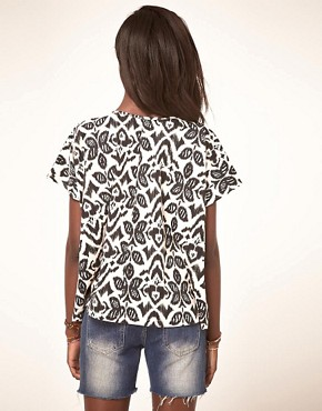Image 2 ofASOS T-Shirt with Floral Ikat
